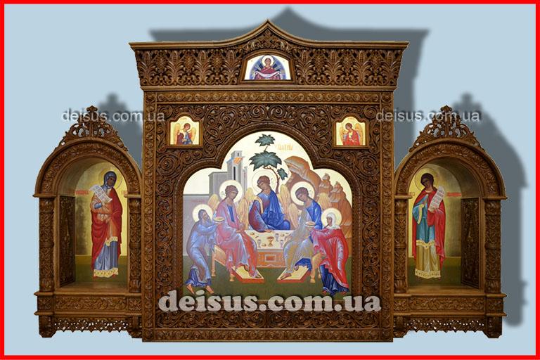 Подвесной тройной киот в церковь. Артикул № 00302