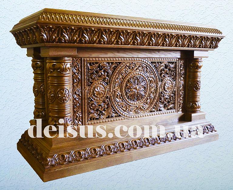 Панихидный стол из дуба для храма.