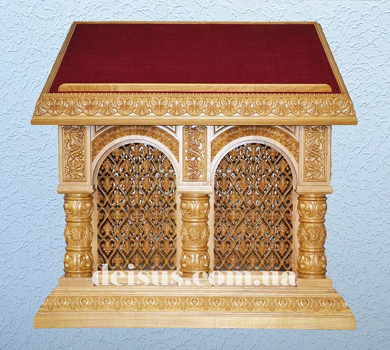 Аналой для храма вид спереди. Артикул №00706