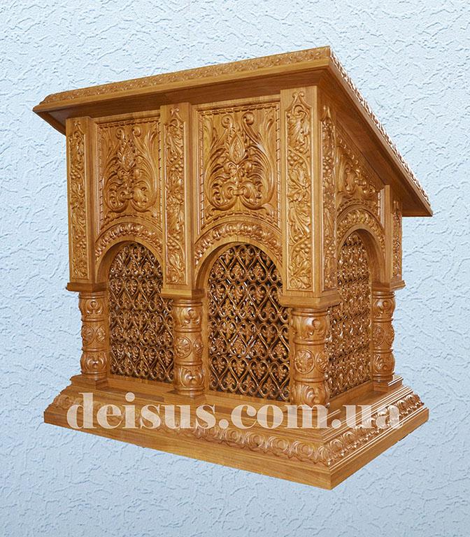Аналой для храма вид сзади. Артикул №00706