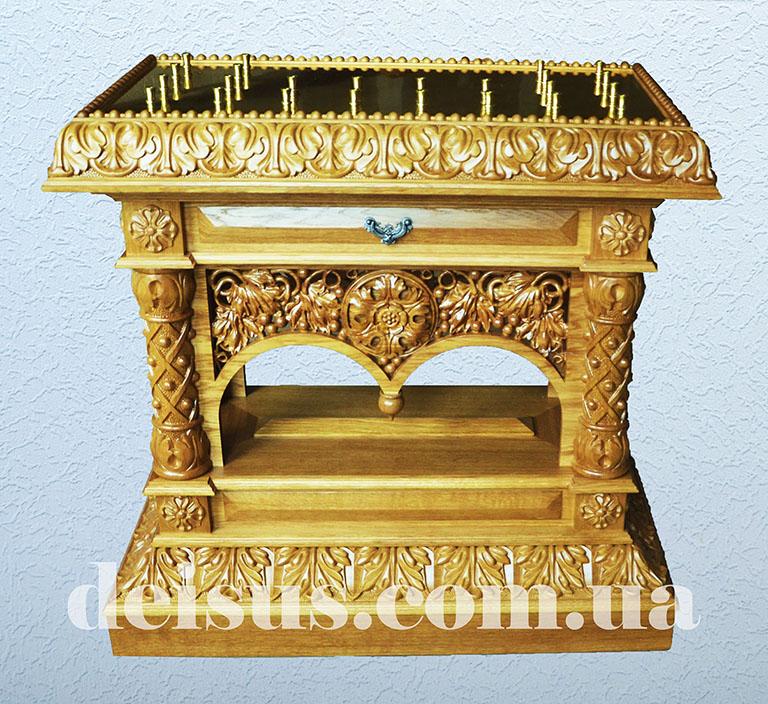 Панихидный стол вид спереди для храма