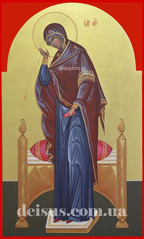 Заказать икону Пресвятой Богородицы для храма с позолотой.