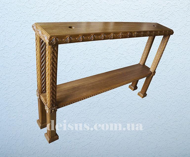 Запрестольный столик. Резной из дуба.