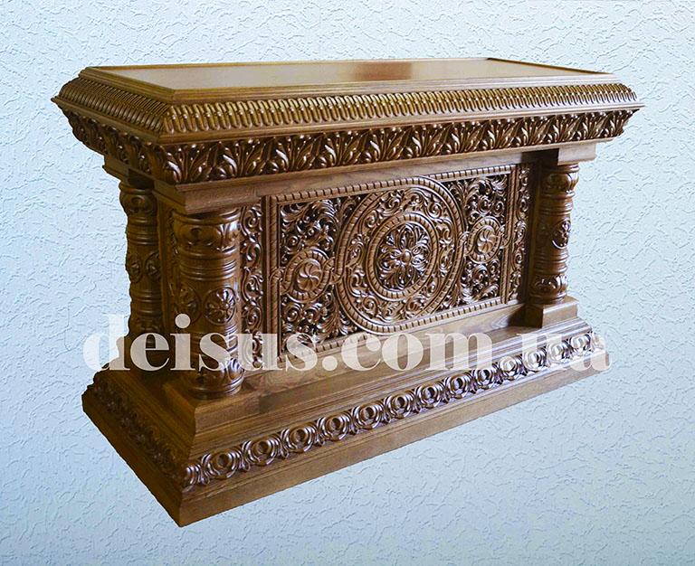 Панихидный стол резной для храма.